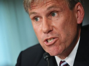 John Stevens testifies before the Senate Foreign Relations Committee on his nomination to be ambassador to Libya on March 20, 2012.(AFP Photo / Mandel Ngan)
