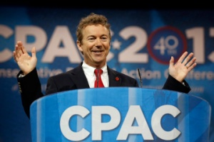Senator Paul of Kentucky speaks at the Conservative Political Action Conference at National Harbor, Maryland